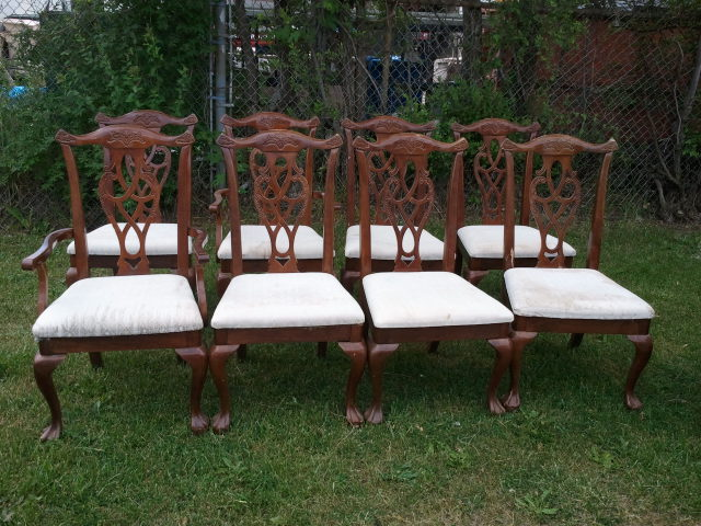 Formal dining chairs donated to womens shelter