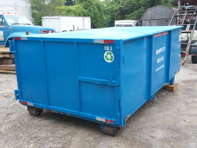Sealed and Lockable dumpster for scrap metal recycling or secure disposal.